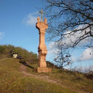 Wayside cross on the Reiler Hals hill
