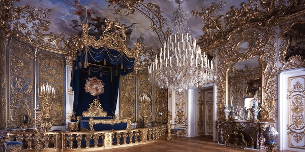 Wanderung durchs Graswangtal zum Königsschloss - Schlafzimmer König Ludwig II.