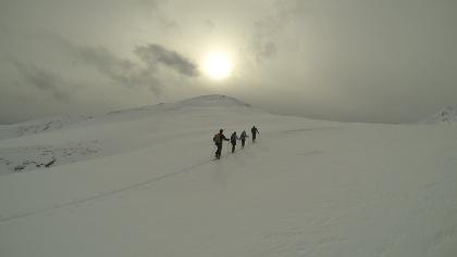 Kurz vor dem Gipfel des Mühlachgeiers.