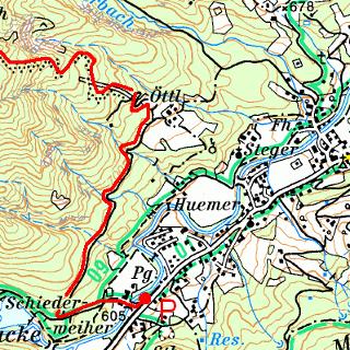 Öttlberg  Kartenausschnitt