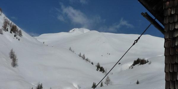 Blick von der Stanerhütte zum Gipfel