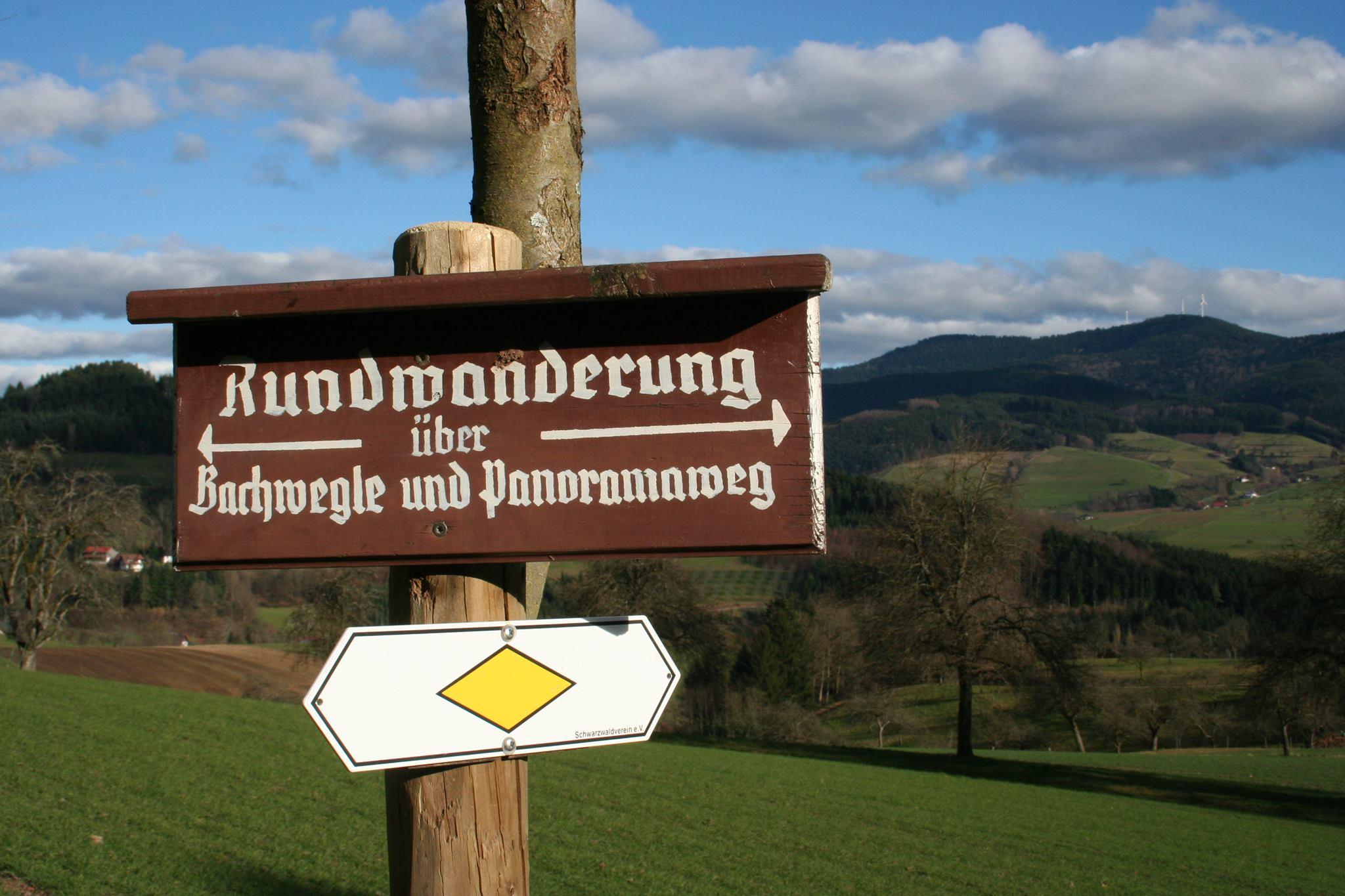 Schilder des Schwarzwaldvereins weisen den Weg