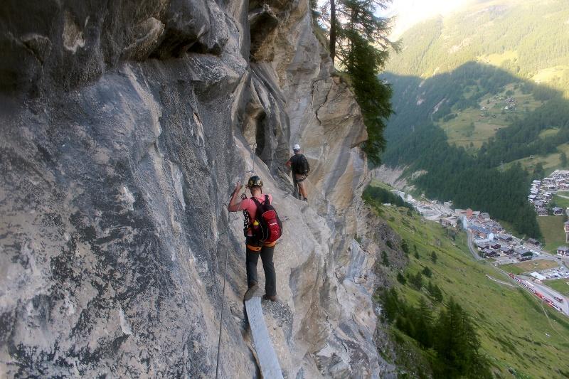 Klettersteig Zermatt : Klettersteig schweifinen route c zermatt schweiz