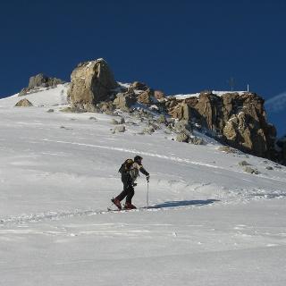 Kurz vor dem Gipfel der Kesselspitze.