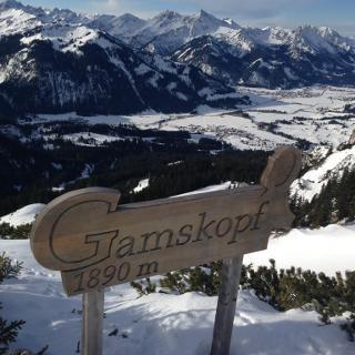 Blick vom Gamskopf ins Tannheimer Tal