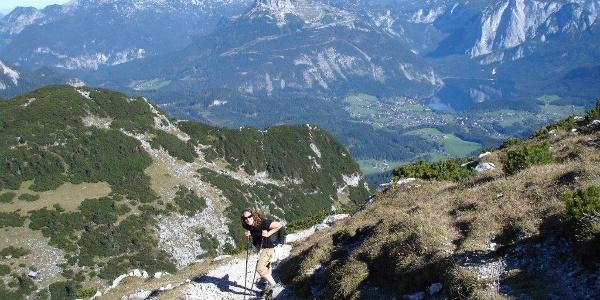 Am Aufstieg vor dem Gipfel