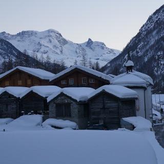 Le village de Randa en hiver