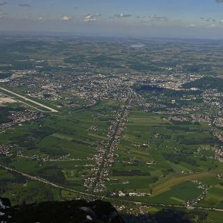 die Moosstraße aus der Luft
