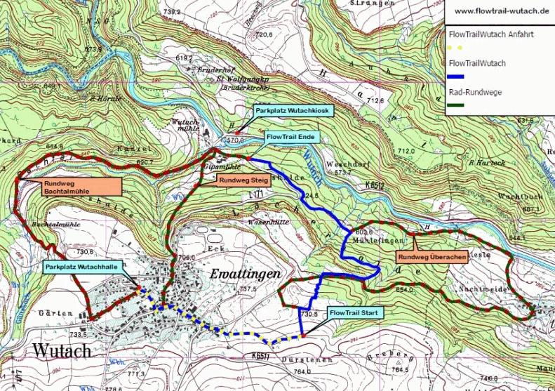 FlowTrail Wutach -Karte