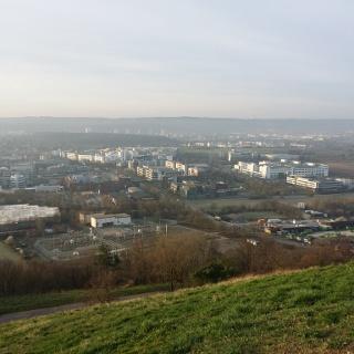 Blick vom Grünen Heiner auf Weilimdorf