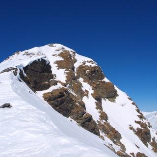 Blick zum Gipfelaufbau.