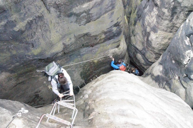 Klettersteig Sächsische Schweiz : Wandern mit gps download: wandertour details karte