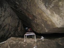 Foto In der großen Klufthöhle der oberen Häntzschelstiege