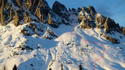 Aufstiegs- und Abfahrtsroute