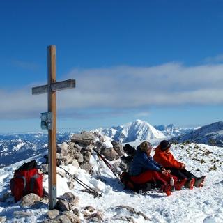 Gipfelkreuz mit Pyhrgas