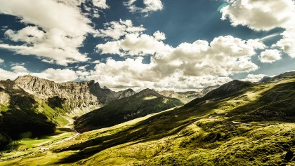 Panoramablick in der Ferienregion Savognin Bivio Albula