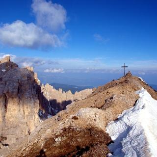 Kreuz in Sicht, Scharte 2710 m