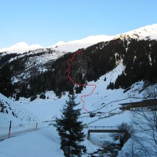 Der Aufstieg von Seduck im unteren Teil der Tour.