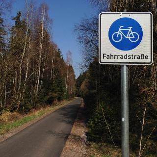 Beschilderung Fahrradstraße