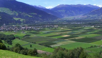 Blick über den oberen Vinschgau