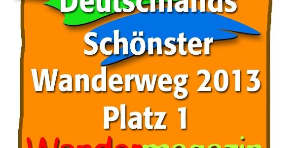 Logo Deutschlands Schönster Wanderweg 2013