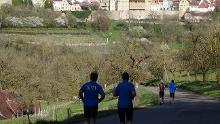 Abschlusslauf vom 29. März 2014 - Lauftreff Albverein Schrozberg --> Rothenburg