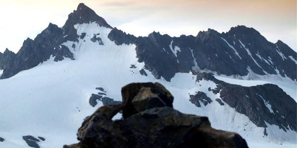Dreiländerspitze vom Vermuntkopf am Morgen