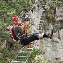 Action auf der Leiter