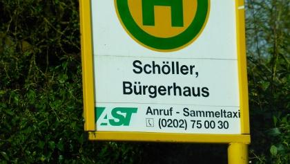 Bus Schöller, Anruf genügt, Wartezeit 20 Minuten