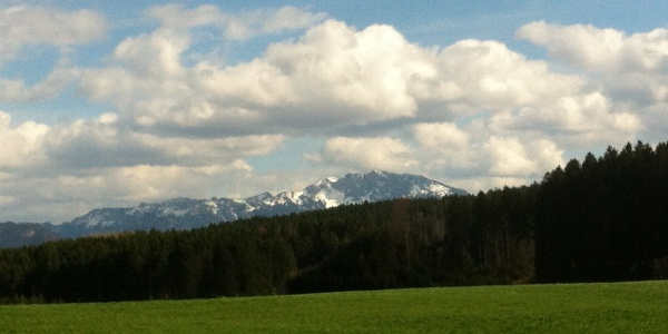 Weitblick auf die Alpenkette