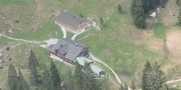 Tutzinger Hütte aus der Luft