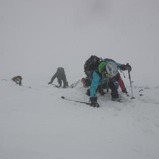 Die Steilstufe nach dem Skidepot