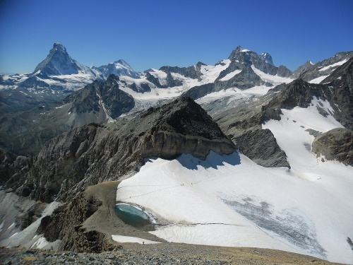 Ascent of the Mettelhorn with the Platthorn behind