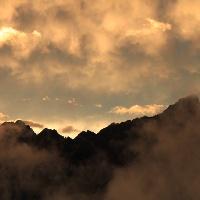 Sonnenuntergang am Karwendelhaus