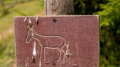 Kennzeichnung des Eselspfades